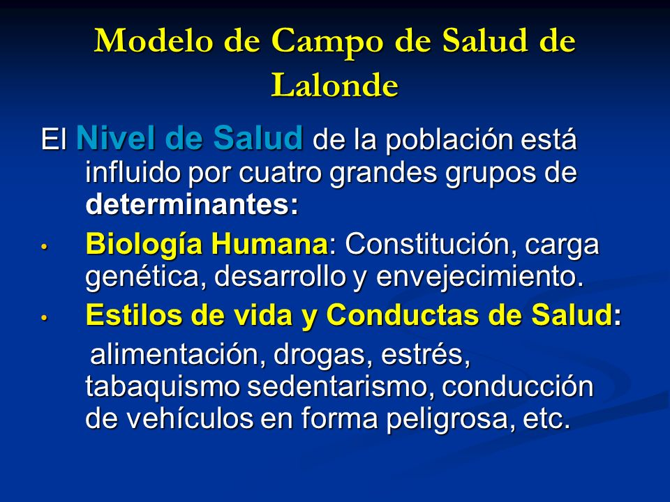 Modelo de Campo de Salud de Lalonde