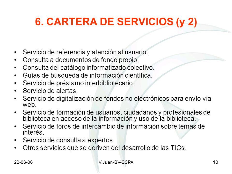 6. CARTERA DE SERVICIOS (y 2)