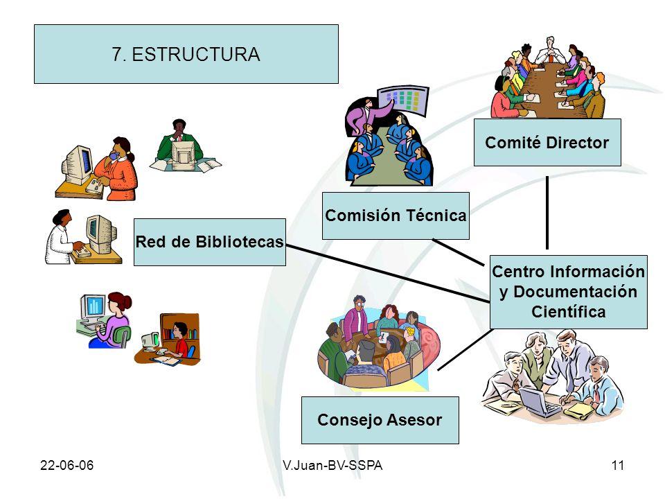 7. ESTRUCTURA Comité Director Comisión Técnica Red de Bibliotecas