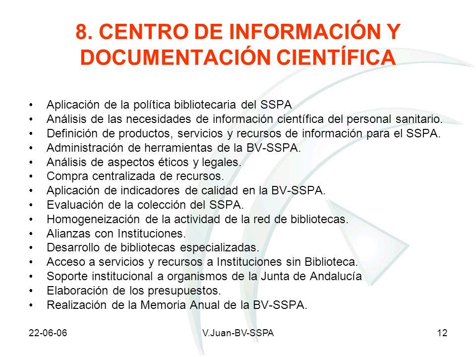 8. CENTRO DE INFORMACIÓN Y DOCUMENTACIÓN CIENTÍFICA