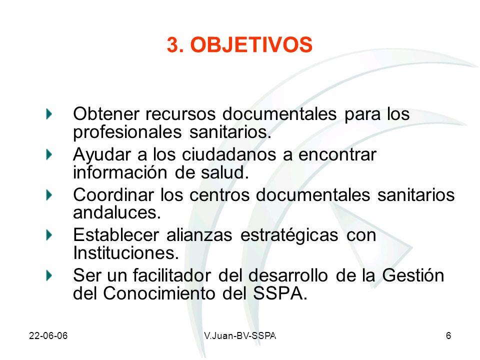3. OBJETIVOS Obtener recursos documentales para los profesionales sanitarios. Ayudar a los ciudadanos a encontrar información de salud.