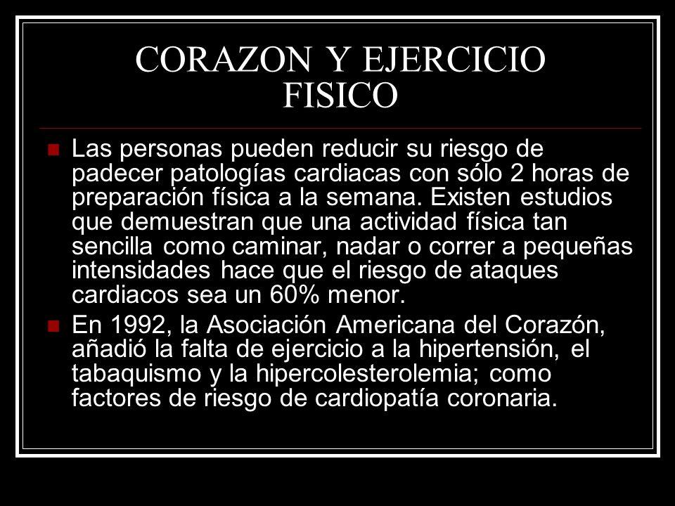 CORAZON Y EJERCICIO FISICO