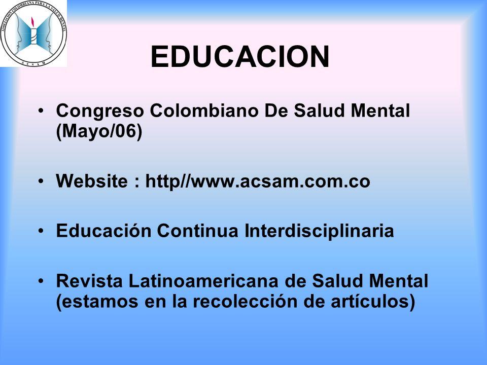 EDUCACION Congreso Colombiano De Salud Mental (Mayo/06)