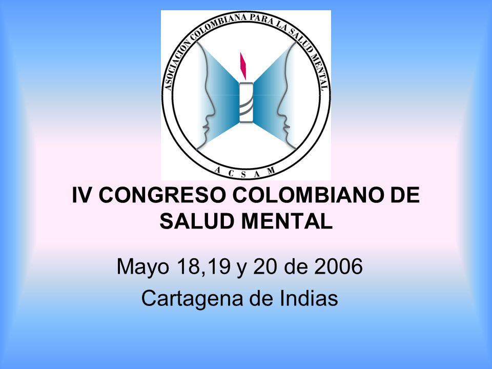 IV CONGRESO COLOMBIANO DE SALUD MENTAL