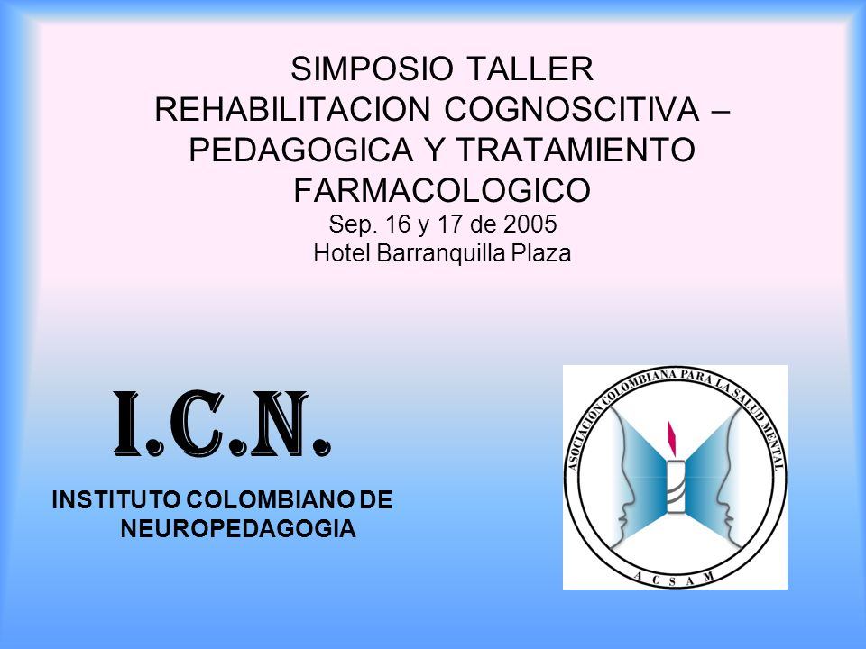 INSTITUTO COLOMBIANO DE NEUROPEDAGOGIA