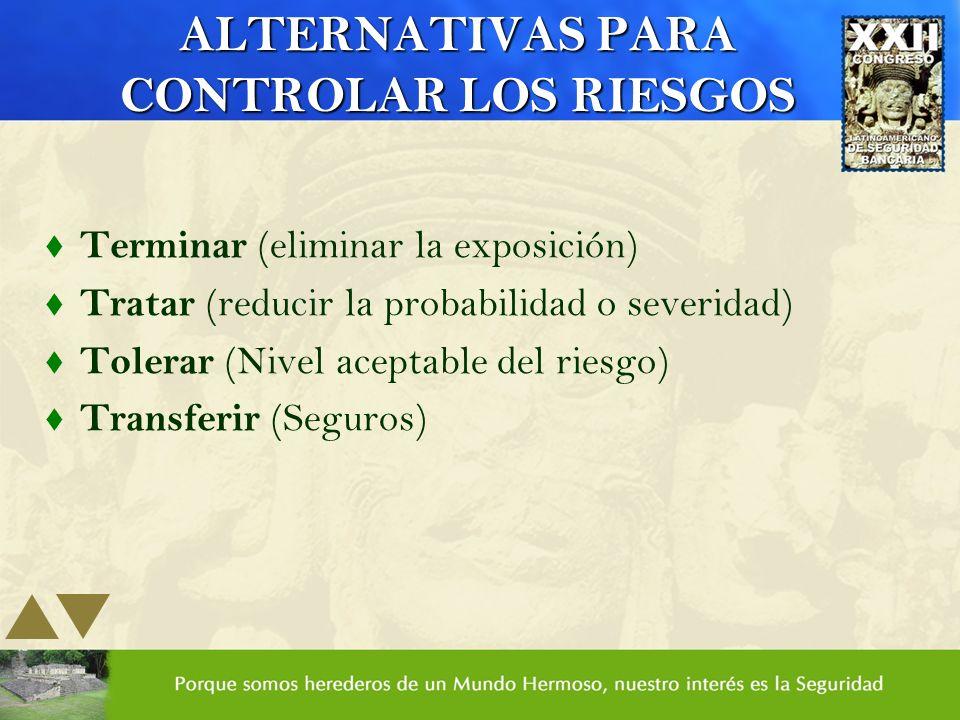 ALTERNATIVAS PARA CONTROLAR LOS RIESGOS