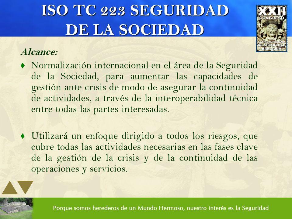 ISO TC 223 SEGURIDAD DE LA SOCIEDAD