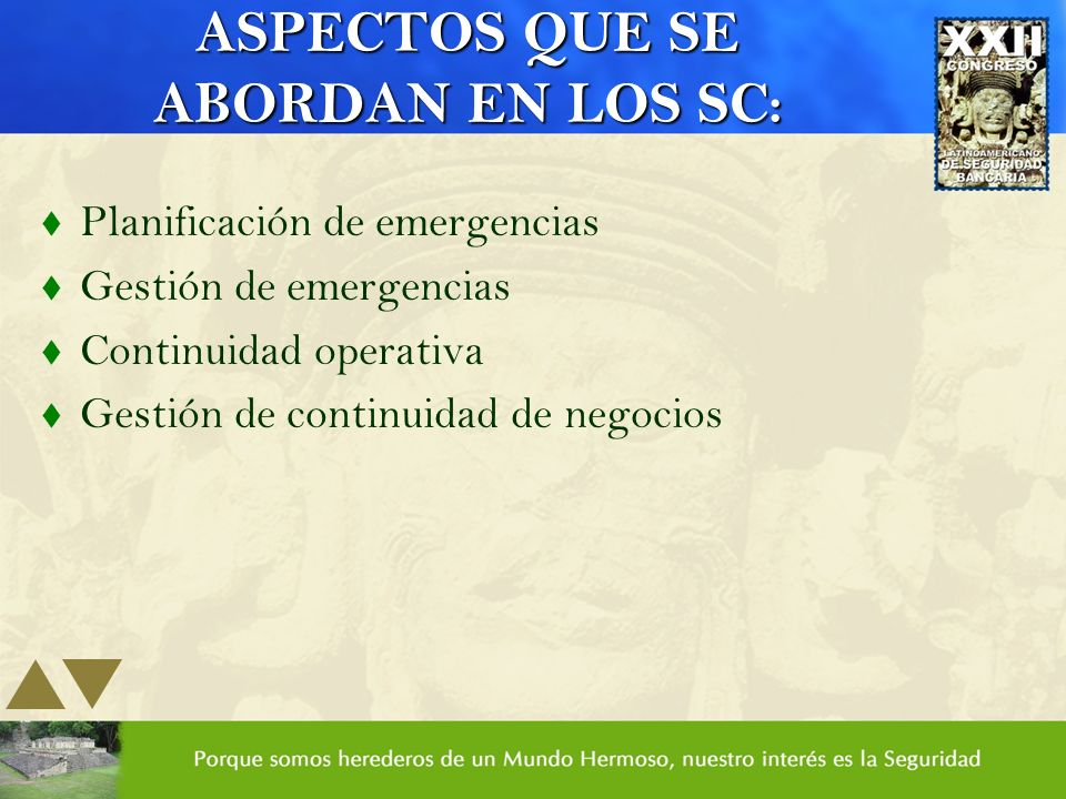 ASPECTOS QUE SE ABORDAN EN LOS SC: