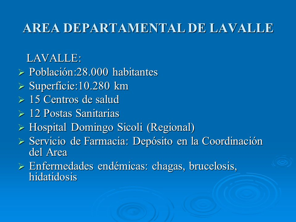 AREA DEPARTAMENTAL DE LAVALLE