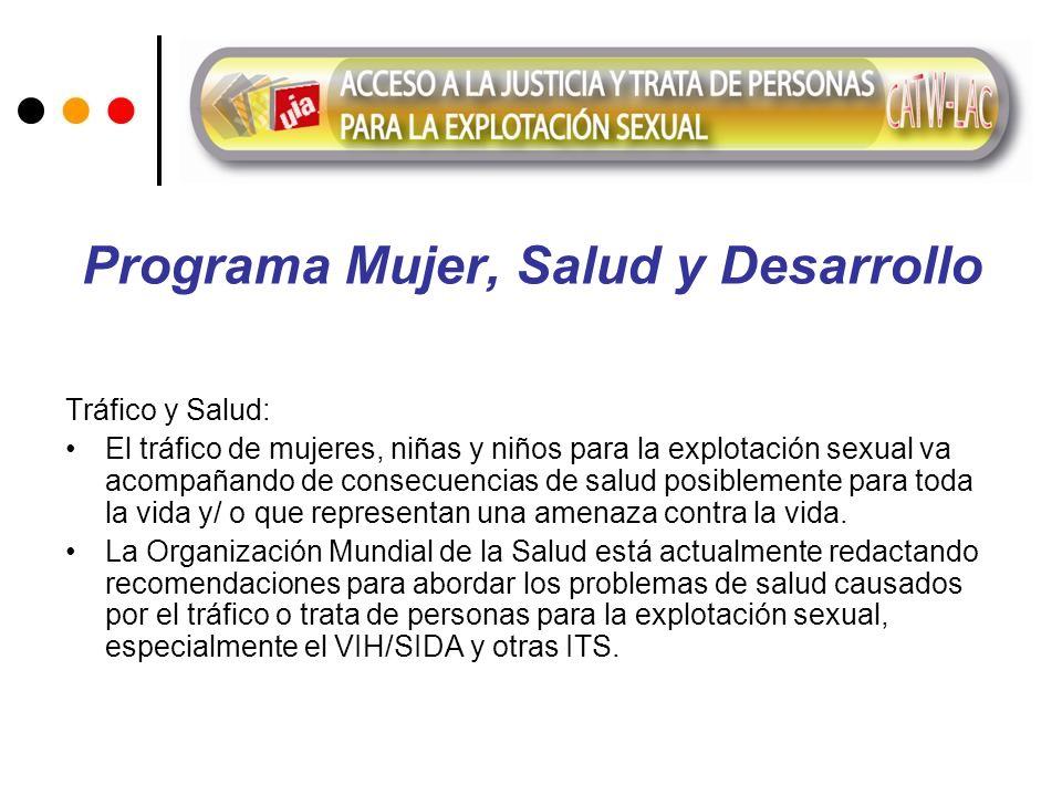 Programa Mujer, Salud y Desarrollo