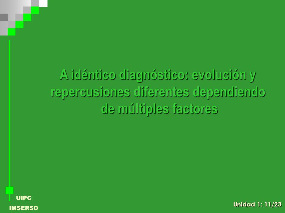 A idéntico diagnóstico: evolución y
