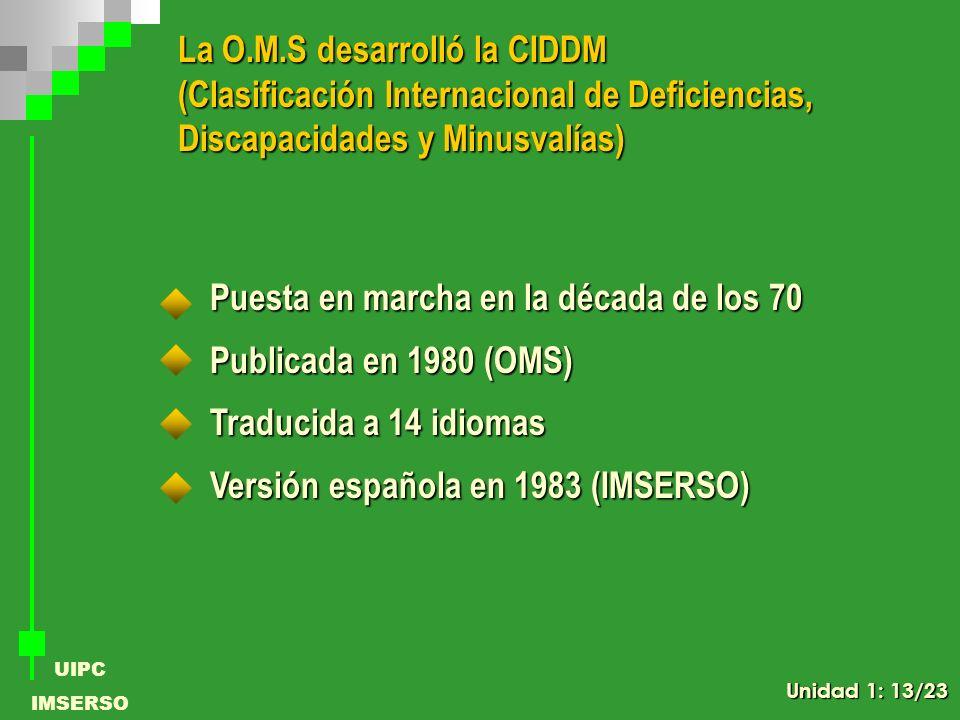 La O.M.S desarrolló la CIDDM