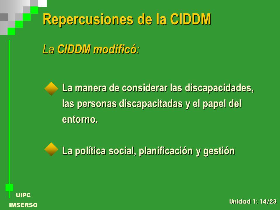 Repercusiones de la CIDDM