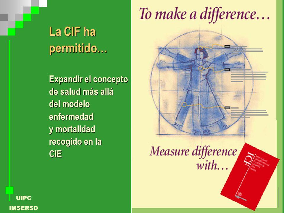 La CIF ha permitido… Expandir el concepto de salud más allá del modelo