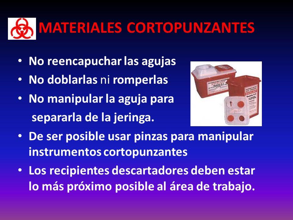 MATERIALES CORTOPUNZANTES