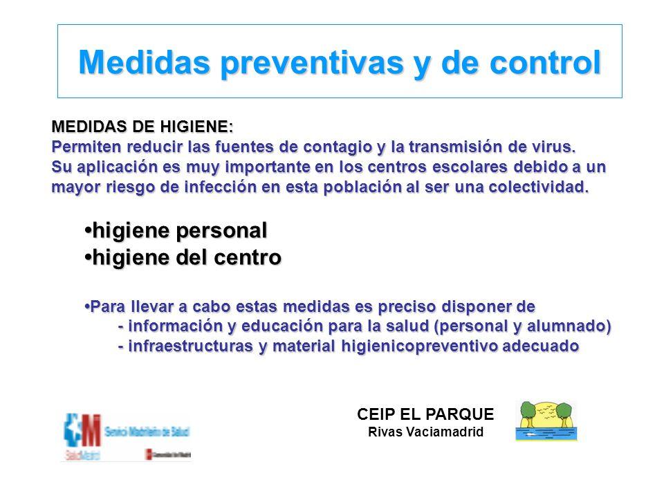 Medidas preventivas y de control