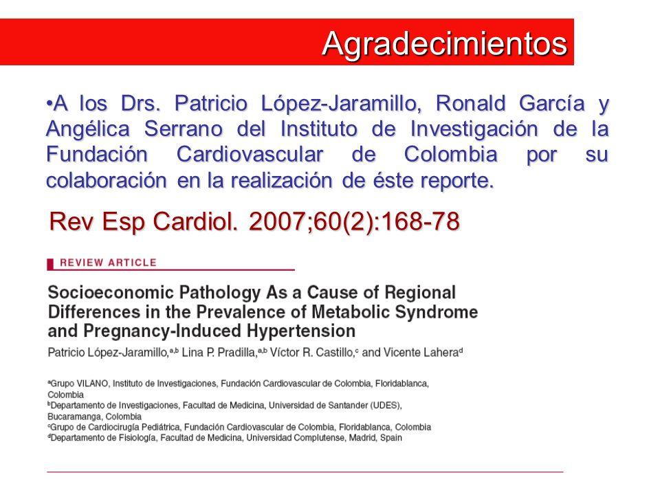 Agradecimientos Rev Esp Cardiol. 2007;60(2):168-78