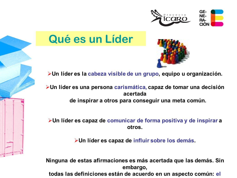 Qué es un Líder Un líder es la cabeza visible de un grupo, equipo u organización.