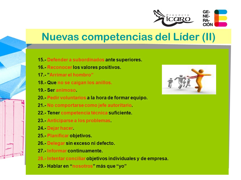 Nuevas competencias del Líder (II)
