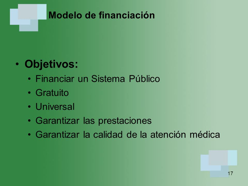 Modelo de financiación