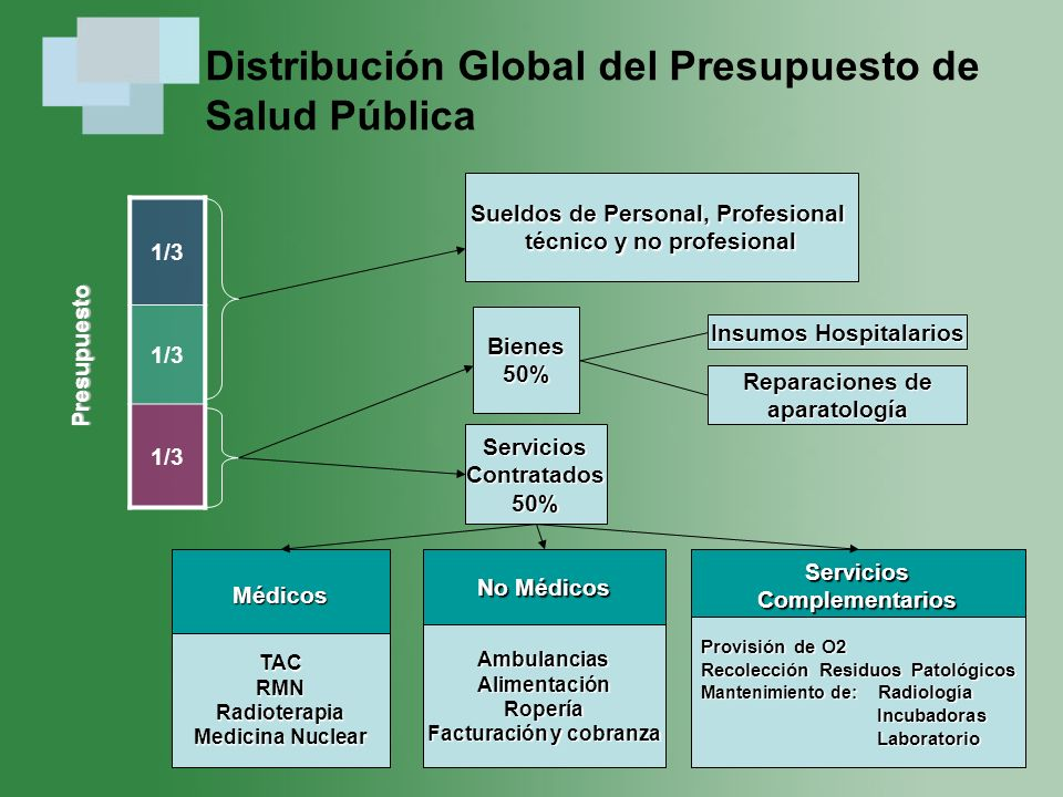 Distribución Global del Presupuesto de Salud Pública