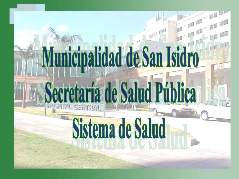 Municipalidad de San Isidro Secretaría de Salud Pública