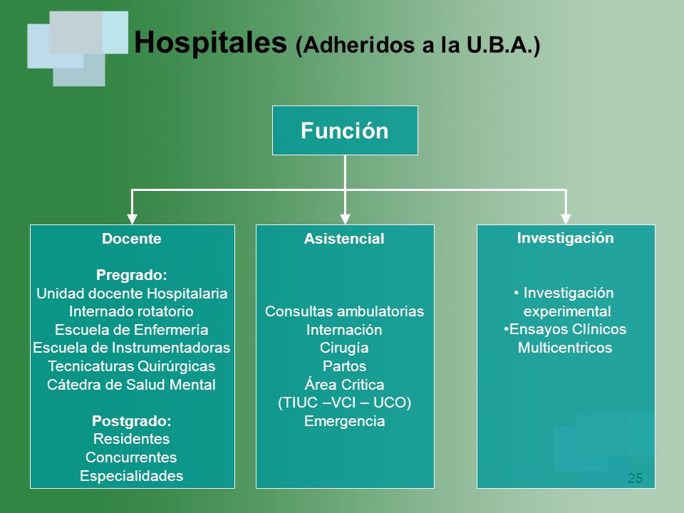 Hospitales (Adheridos a la U.B.A.)
