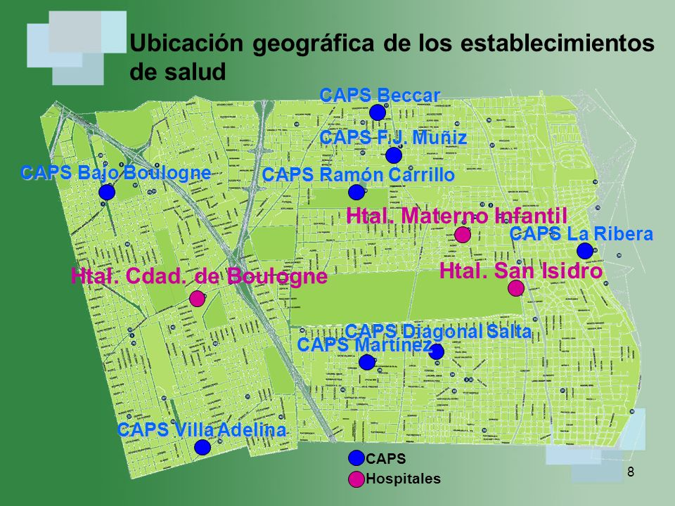 Ubicación geográfica de los establecimientos de salud