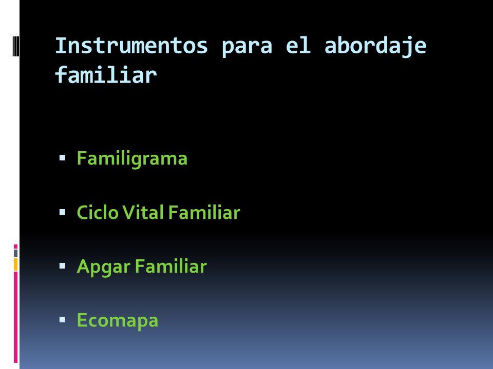 Instrumentos para el abordaje familiar