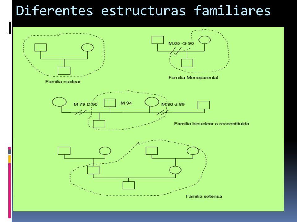 Diferentes estructuras familiares