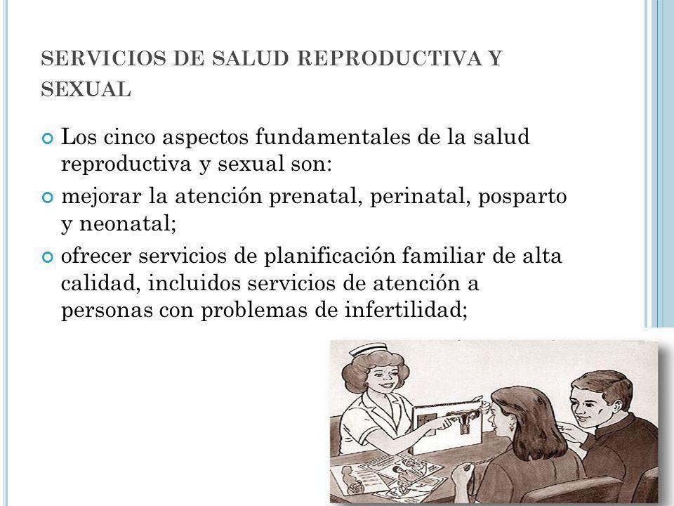 servicios de salud reproductiva y sexual