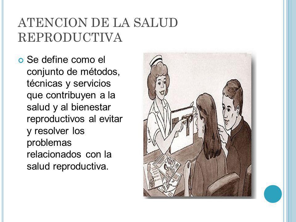 ATENCION DE LA SALUD REPRODUCTIVA