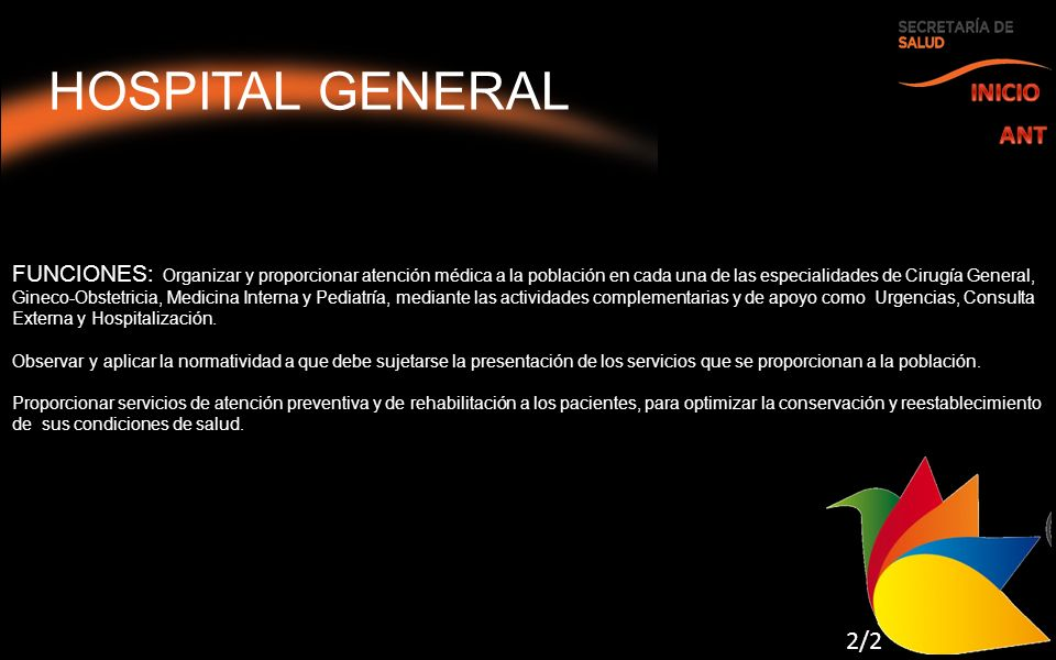 HOSPITAL GENERAL INICIO ANT 2/2