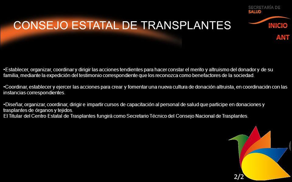 CONSEJO ESTATAL DE TRANSPLANTES