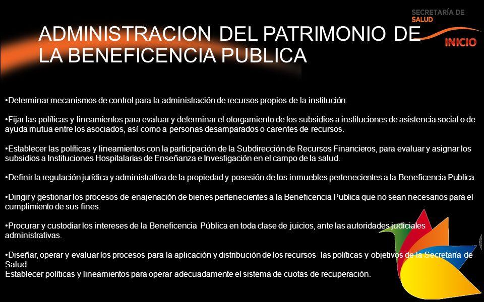 ADMINISTRACION DEL PATRIMONIO DE LA BENEFICENCIA PUBLICA