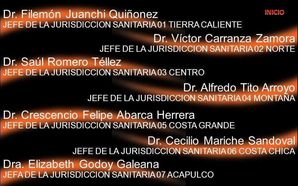 Dr. Alfredo Tito Arroyo JEFE DE LA JURISDICCION SANITARIA 04 MONTAÑA