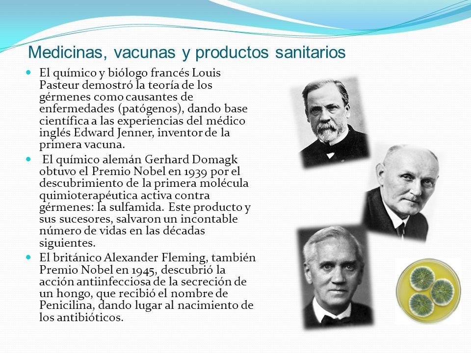 Medicinas, vacunas y productos sanitarios