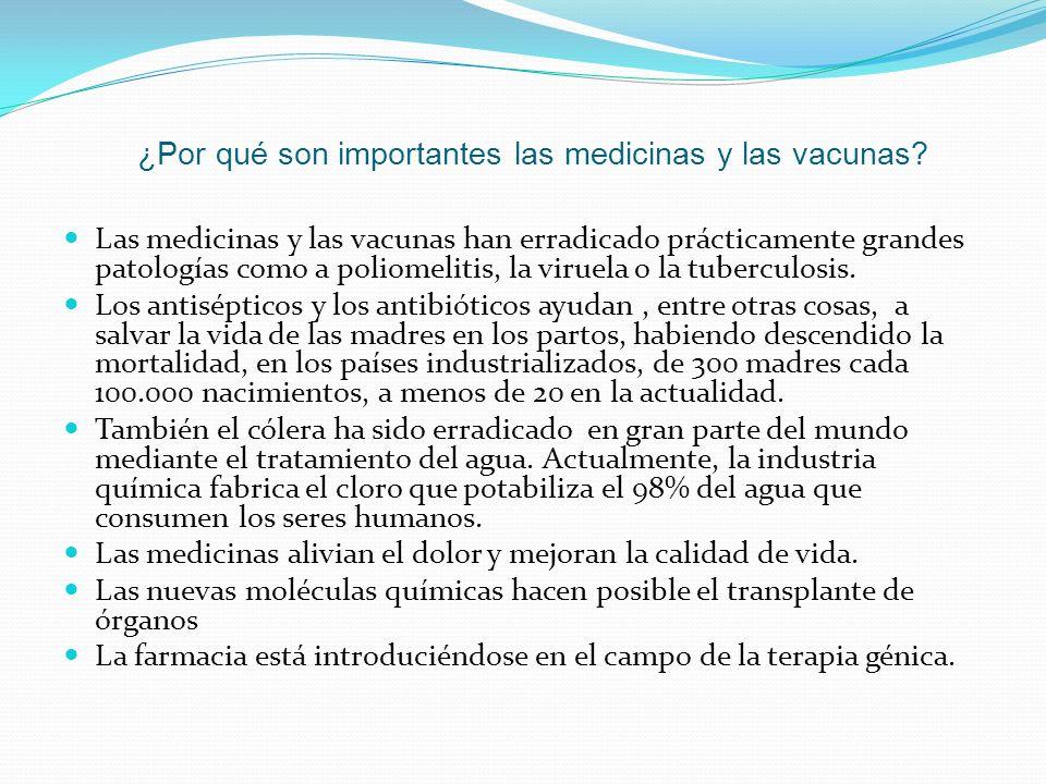 ¿Por qué son importantes las medicinas y las vacunas