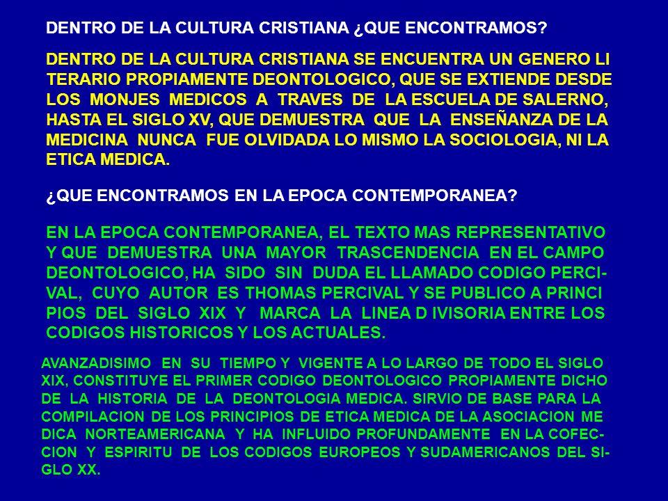 DENTRO DE LA CULTURA CRISTIANA ¿QUE ENCONTRAMOS