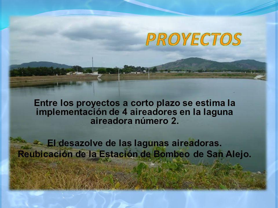 PROYECTOS Entre los proyectos a corto plazo se estima la implementación de 4 aireadores en la laguna aireadora número 2.