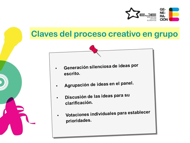 Claves del proceso creativo en grupo