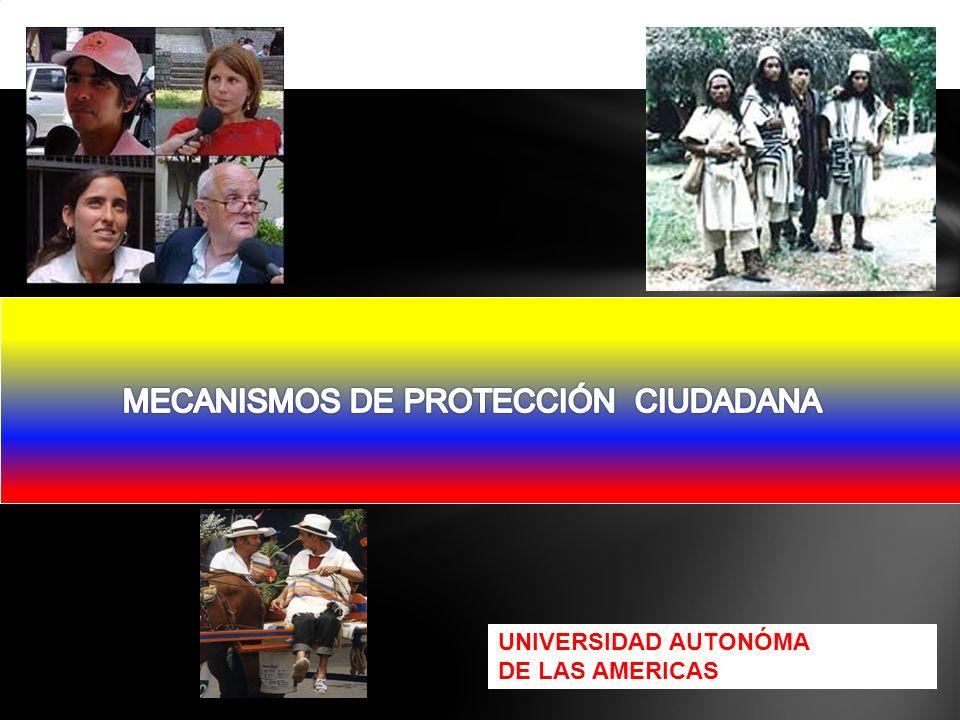 MECANISMOS DE PROTECCIÓN CIUDADANA