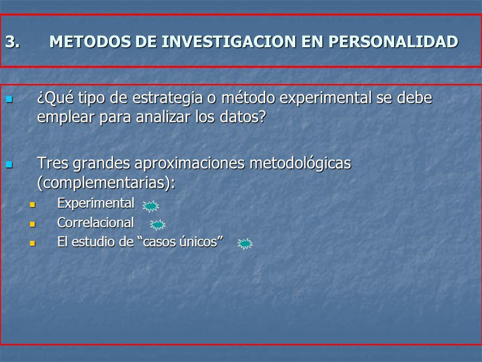 METODOS DE INVESTIGACION EN PERSONALIDAD