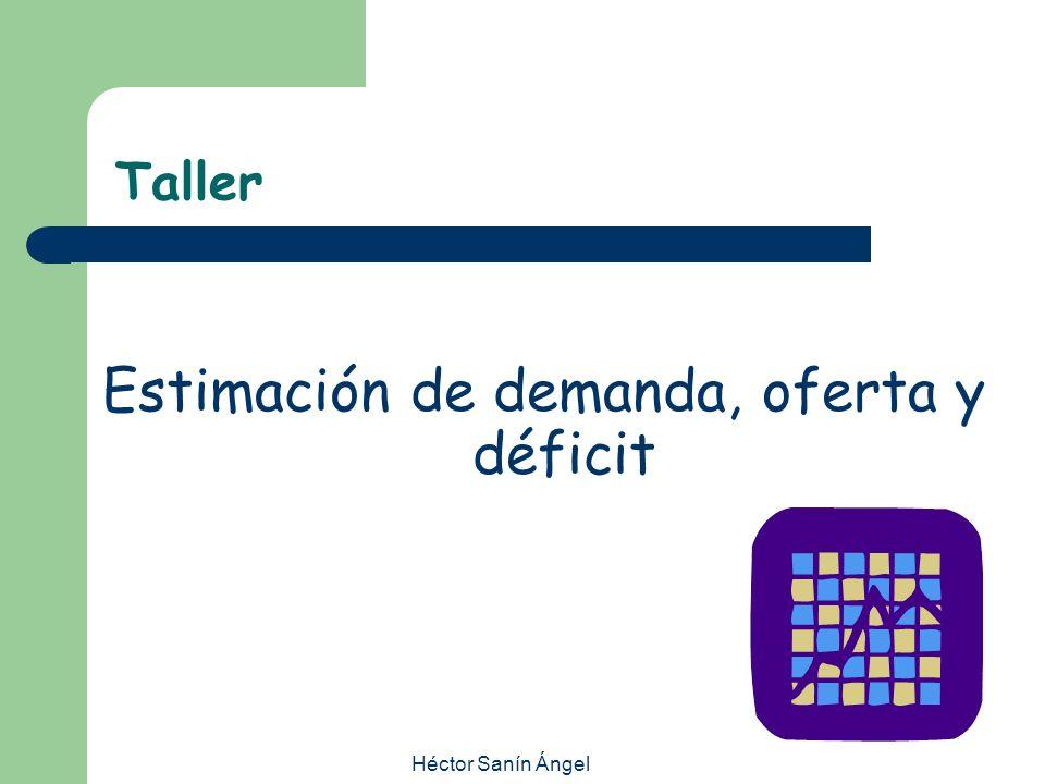 Estimación de demanda, oferta y déficit