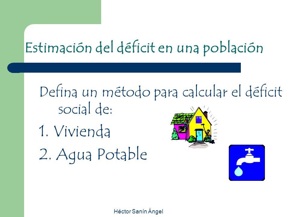 Estimación del déficit en una población