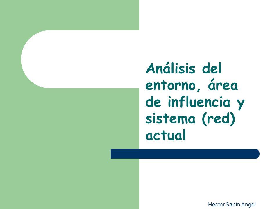 Análisis del entorno, área de influencia y sistema (red) actual