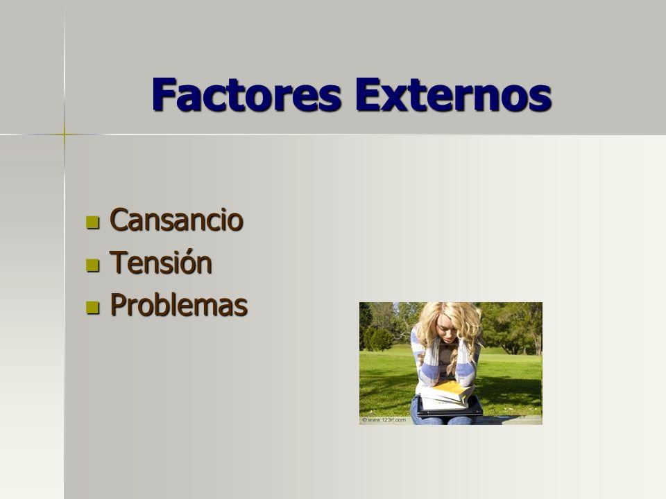 Factores Externos Cansancio Tensión Problemas