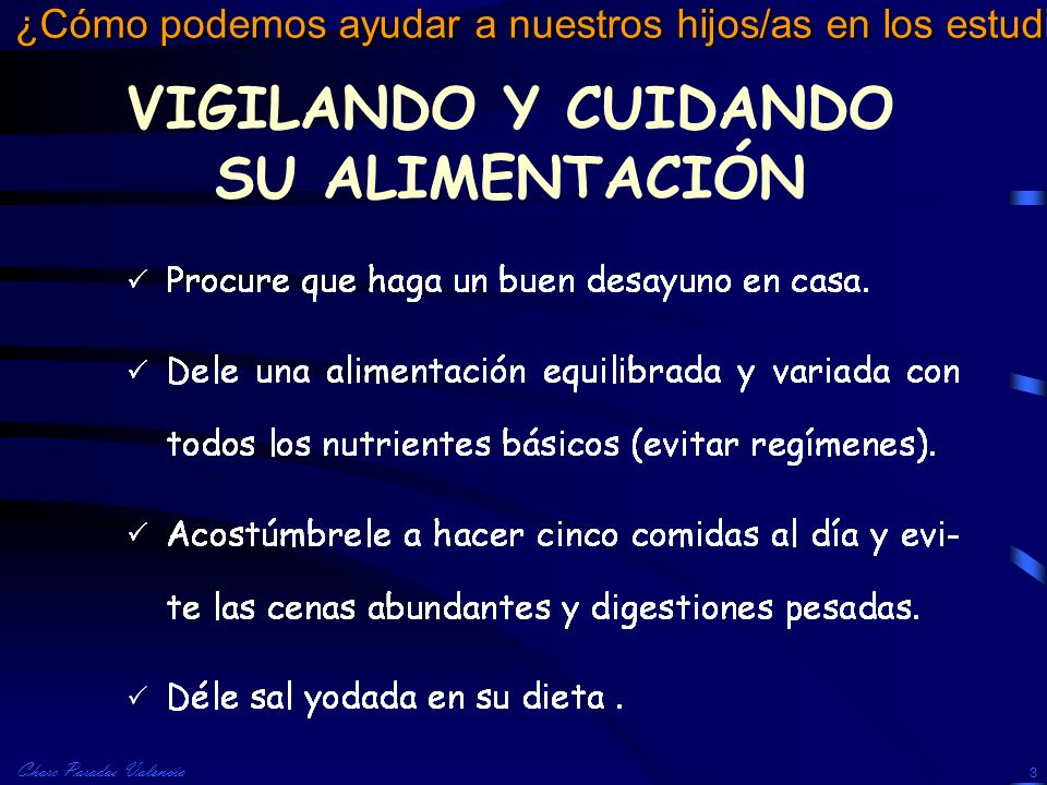 VIGILANDO Y CUIDANDO SU ALIMENTACIÓN