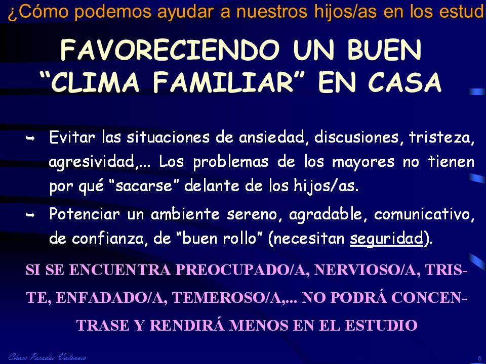 FAVORECIENDO UN BUEN CLIMA FAMILIAR EN CASA