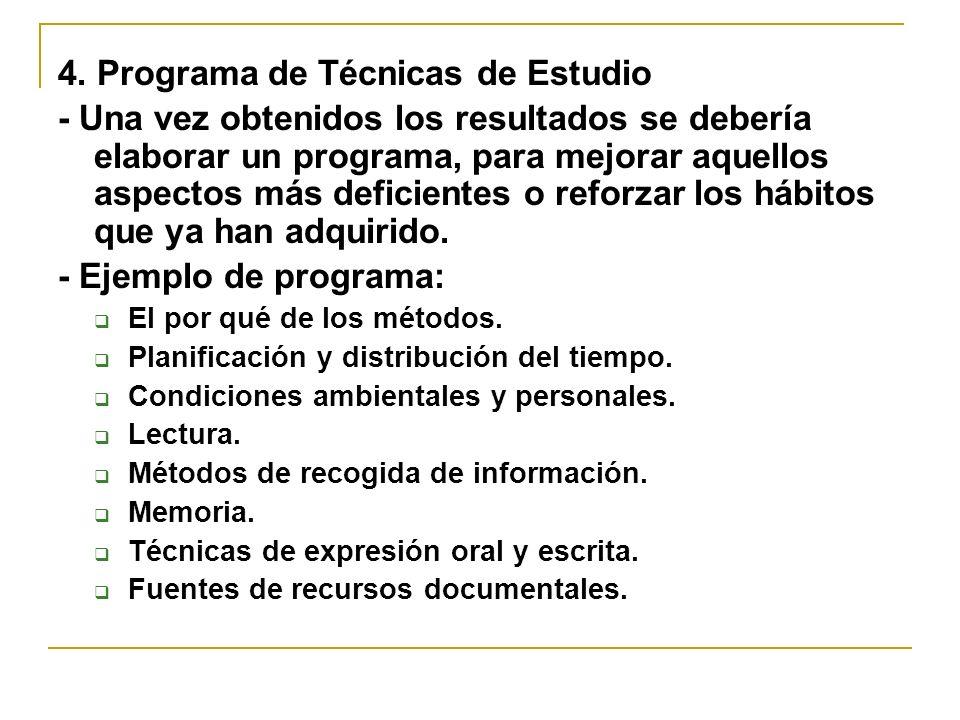 4. Programa de Técnicas de Estudio